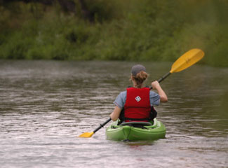 Kayaker on the Trinity River photo