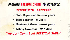 Preston Smith Campaign Literature