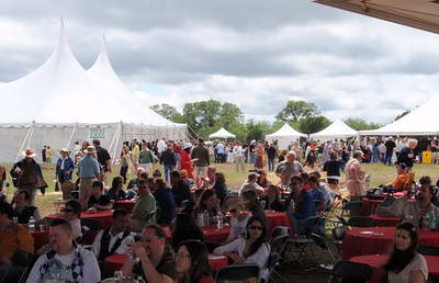 Music Tent crowd photo